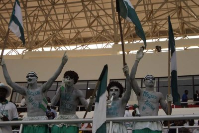Nigerian fans at the African Cup of Nations 2008