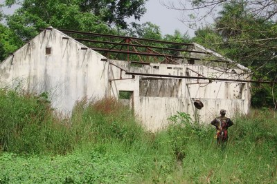 The remains of a school in Barakabounaou, a village in Senegal's southern Casamance region.