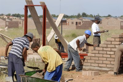 The Northern Cape Community Builders construct 100 low-cost houses.