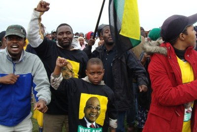 ANC supporters at a rally (file photo).