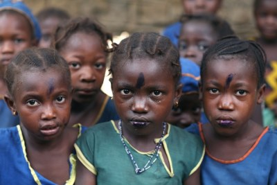 Pupils in Sierra Leone, where just over a third of adults are literate.