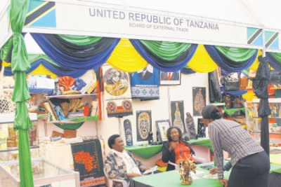 An exhibition of products made in Tanzania: One of the key benefits of the Common Market will be the easing of cross-border trade.
