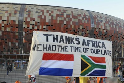 The 2010 World Cup winds down at Soccer City, Johannesburg.