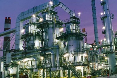 Nigeria:  Oil refinery.