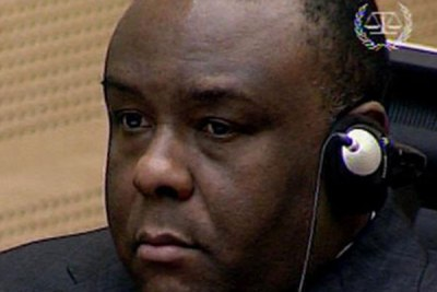 A frame grab shows former Congolese rebel warlor Jean-Pierre Bemba.