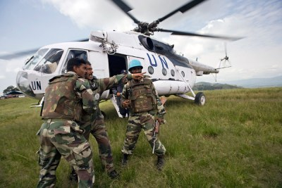 The UN peacekeeping mission in the DR Congo reported...