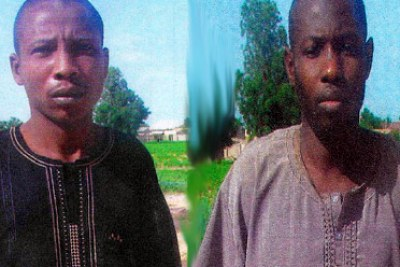 Babagana Kwaljima and Babagana Mali, named as suspects in the bombing.