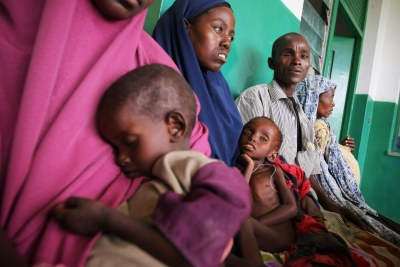 Somali famine victims waiting for treatment for their malnourished and dehydrated children (file photo).