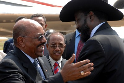 Omar Hassan Ahmad Al-Bashir, President of Sudan, and Salva Kiir Mayardit, President of the Republic of South Sudan