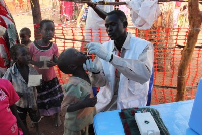 Getting a check-up (file photo): Yellow fever is transmitted by mosquitoes or contaminated blood.