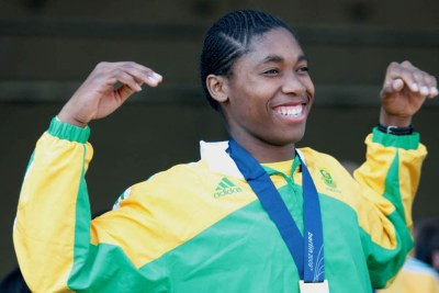 South Africa's 800m specialist Caster Semenya.