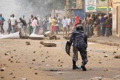 Protest in Lome.