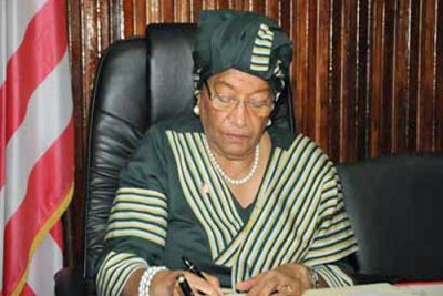 President Ellen Johnson Sirleaf has repeatedly said corruption in Liberia is