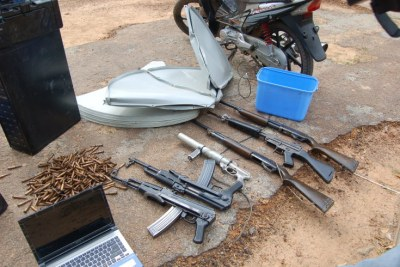Items recovered from Qaqa's home