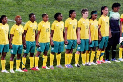 South Africa women's national senior socccer Banyana Banyana crush Democratic Republic of Congo to book semi-final spot