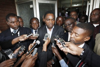 Zambian opposition leader Hakainde Hichilema, president of the United Party for National Development (UPND).