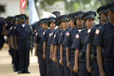 Liberian National Police graduation ceremony (file photo).