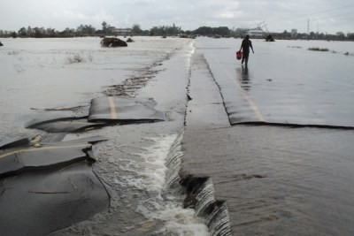 Flooding in Mozambique.