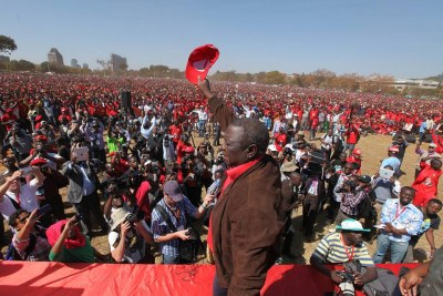Morgan Tsvangirai's Last Rally Ahead of election