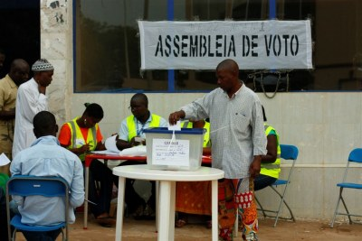 First round voting in Guinea Bissau