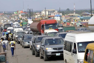 Traffic in Lagos (file photo).