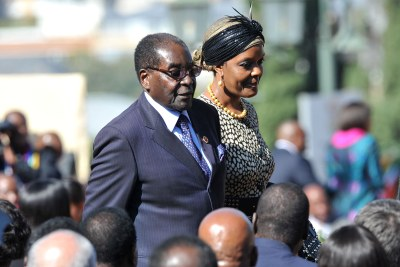 President Robert Mugabe with his wife Grace (file photo).