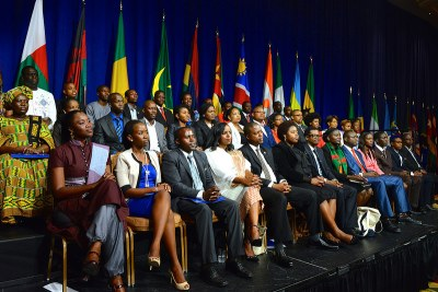 Archive picture - Participants of the Mandela Washington Fellowship for Young African Leaders listen as U.S. Secretary of State John Kerry delivers remarks at the Presidential Summit of the Washington Fellowship in Washington, D.C., on July 28, 2014.