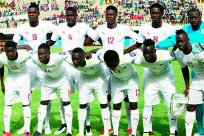L'équipe nationale du Sénégal de football U-20, lors de la CAN 2015 à Dakar