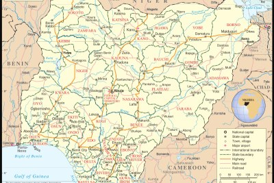 Map of Nigeria (file photo).