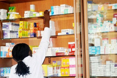 A pharmacy in Rwanda (file photo).