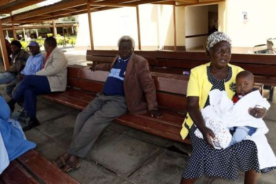 Stranded patients at the Nakuru Level Five Hospital on January 11, 2017. Doctors are still on strike.