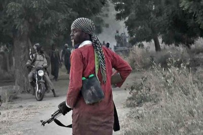 A Boko Haram fighter (file photo).