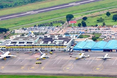 An overview of Entebbe Airport International Airport.