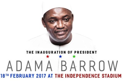 President Adama Barrow will be inaugurated in Gambia - he was inaugurated in Senegal after he won the election which former president Yahya Jammeh disputed - on February 18.