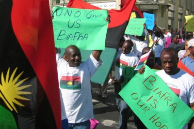 Biafra protesters (file photo).