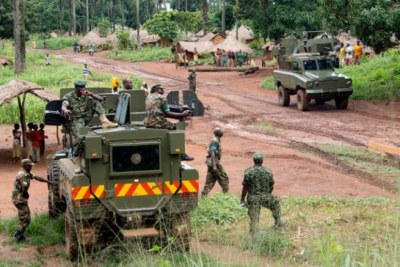 Uganda People's Defence Force soldiers in  Central African Republic (file photo).