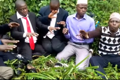 Ugandan  Councillor Ssegirinya and his officials conducting