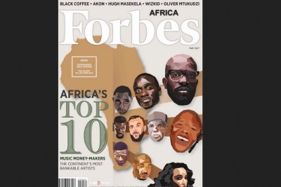 Forbes top 10 richest musicians in Africa.