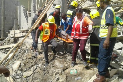 Building collapse in Lagos.