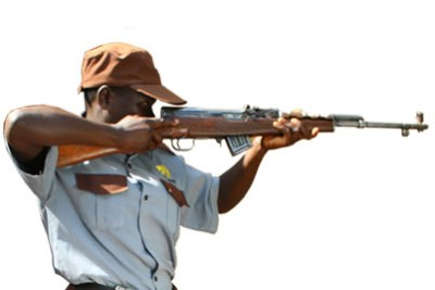 Range Protective Services security guard (file photo).