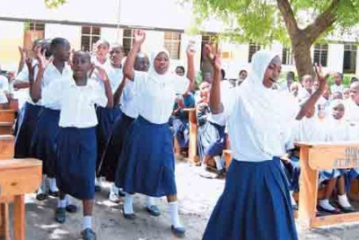 Young girls at a public school. The government should adopt a multi-pronged approach to address the issue of teen pregnancies.