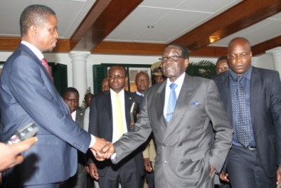 Zambian President Edgar Lungu with Zimbabwean President Robert Mugabe (file photo).