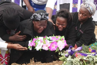 Family mourning George Chamangwana.