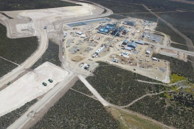 Aerial view of the Kropz Phosphate Mine on the West Coast.
