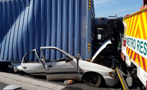 Two Dead After Container Crushes Car in South Africa