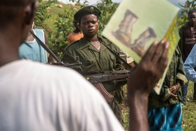 Child soldiers in DRC.