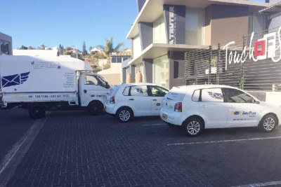 EasiPost courier vehicles. The company currently employs five people.