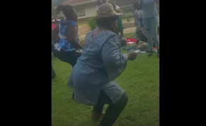 Zimbabwe Politician Mujuru Shows Off Her Dance Moves - VIDEO