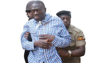 Former FDC presidential candidate Dr Kizza Besigye is detained at Nagalama Police Station in Mukono District following his arrest on Thursday.