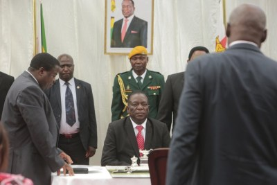 President Emmerson Mnangagwa swears in first post-Mugabe Cabinet.